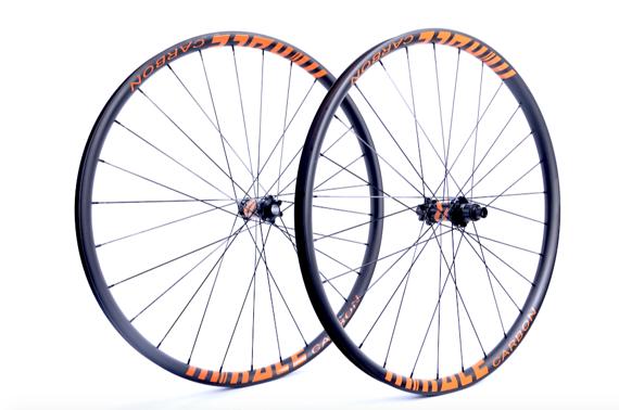 """Radsporttechnik Müller Laufradsatz 29"""" M Race Carbon orange Boost Newmen Evolution CX Ray 1235g NEU"""