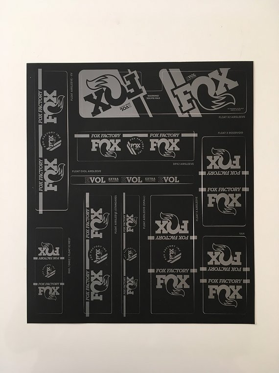 Fox  Racing Shox Sticker 2019 Fox X2, Float X, VAN etc. – Stealth
