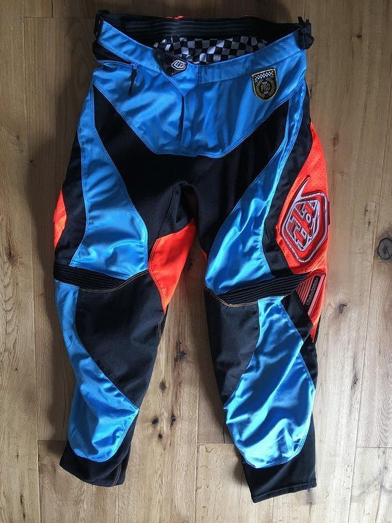 Troy Lee Designs SE Pro Bike Corse Pant Hose blau/orange Gr. 36