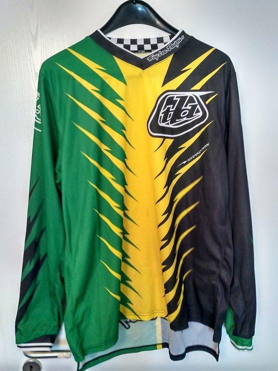 Troy Lee Designs Troy Lee Shocker Green/Yellow - Xtra-Large XL
