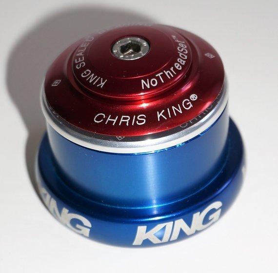 Chris King InSet i3 Steuersatz Mixed Tapered ZS44-EC49 silber