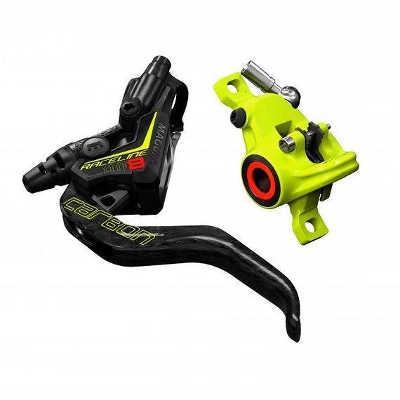 Magura MT8 Raceline, Set VR+HR Bremse, 1-Finger Carbolay-Hebel, links/rechts verwendbar,