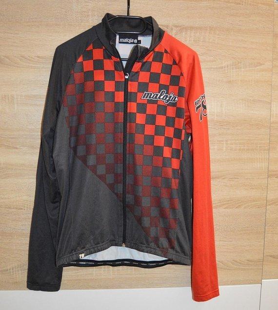 Maloja Wood 78 Trikot Jersey Jacke Windjacke Größe L Schwarz Rot Karo