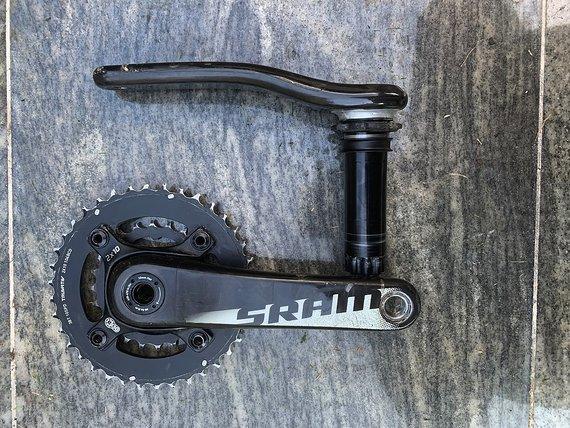 SRAM Carbon Kurbel 2-Fach BB30