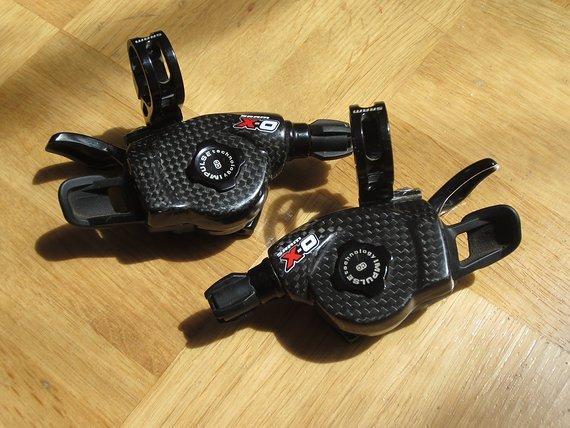 Sram X0 Xo Trigger 2 x10 Schalthebel - top Zustand - Carbon Deckel - Schelle schwarz