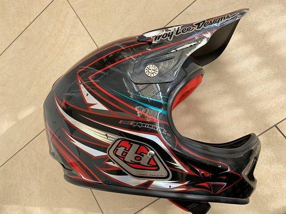 Troy Lee Designs D2 Fullface Helm XL mit schrammen
