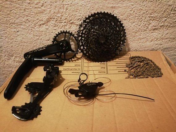 SRAM GX Eagle 12fach (Kassette, Kurbel, Trigger, Schaltwerk, Kette)