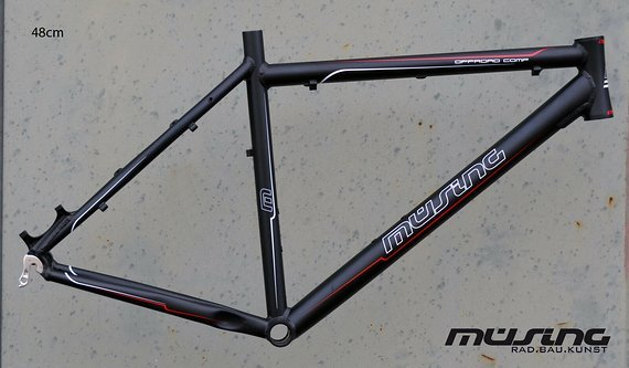 "Müsing Offroad Comp Mountainbike Rahmen 48 cm in schwarz matt 26"""