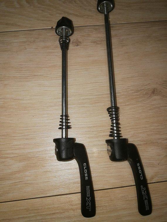 Shimano XT Schnellspanner Set VR 100mm + HR 135mm