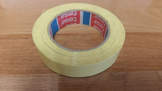 Tesa gelb Tubeless Felgenband 26mm yellow tape, NoTubes