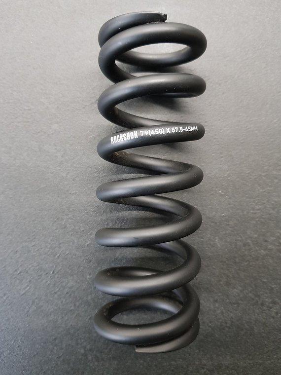 RockShox Stahlfeder für metrische Dämpfer, 151 mm (57,5 - 65 mm)black/450 lbs