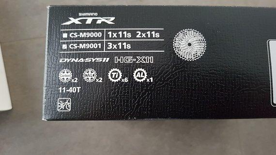 Shimano CS-M9001 XTR Kassette 11-40