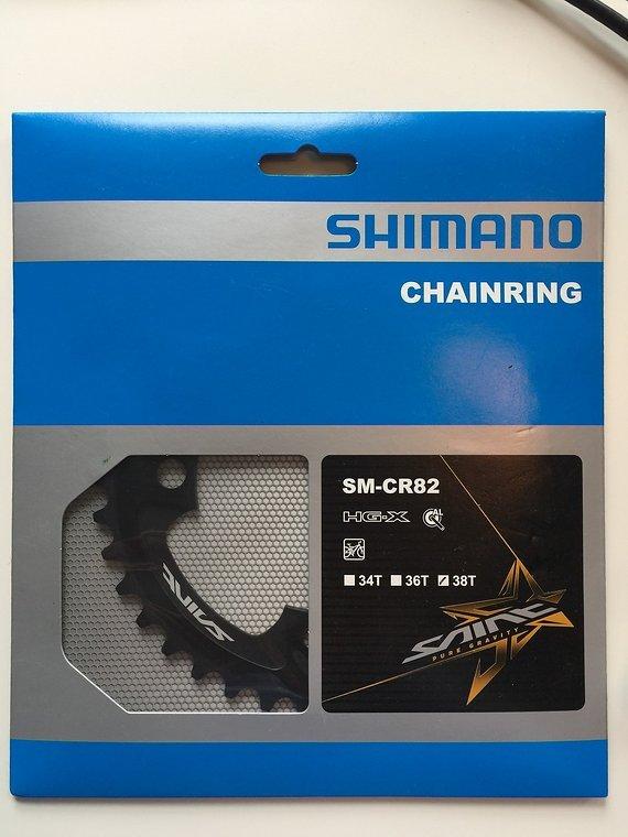 Shimano Saint SM-CR82 Kettenblatt, 38 und 36 Zähne