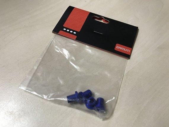 Gamut Kettenblattschrauben ALU blau eloxiert 4 Stück *NEU*