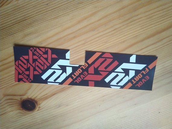 Fox X2 vinyl Sticker / Decal for 190x51mm, 200x51mm and 200x57mm shock RED / White / ORANGE