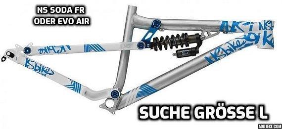 NS Bikes Soda Fr oder Evo Air