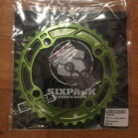 Sixpack Chainsaw Kettenblatt 36z Grün