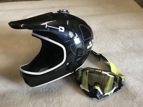 POC Cortex Flow Fullface Helm L-XL mit 100% goggle