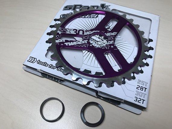 Spank Tweet Tweet BMX Kettenblatt purple 30T *NEU*