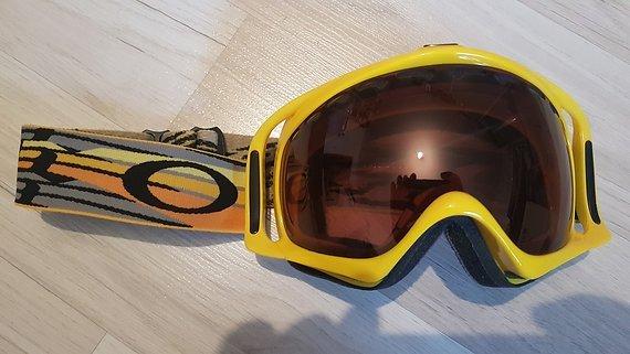 Oakley Crowbar Snow gelb VR28 Dual Lense NEU Goggle