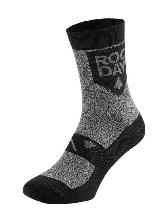 Rocday TIMBER Socks, Melange-Schwarz, Gr. L/XL