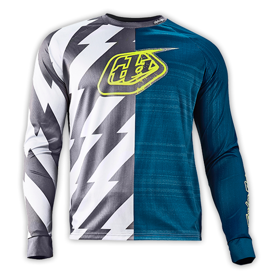 Troy Lee Designs Moto Jersey Caustic Dirty Blue Gr. S