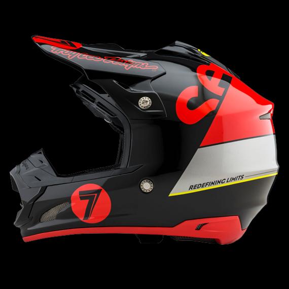Troy Lee Designs SEVEN SE3 HELM Gr.S SUPRA RED