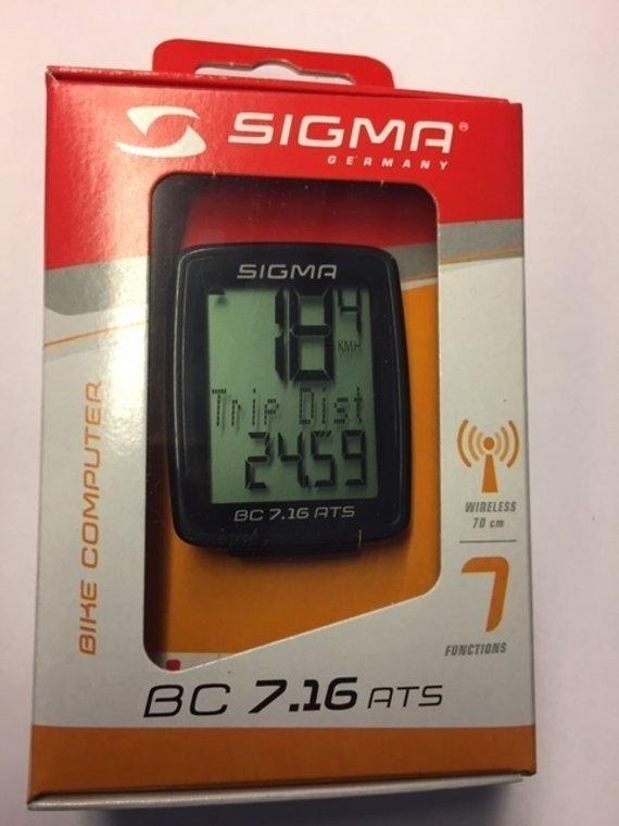 Sigma Sport Fahrradcomputer Sigma BC 7.16 ATS (kabellos/Funk)