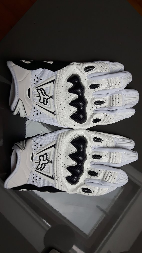 Fox - Bomber Handschuhe weiss/schwarz - XL