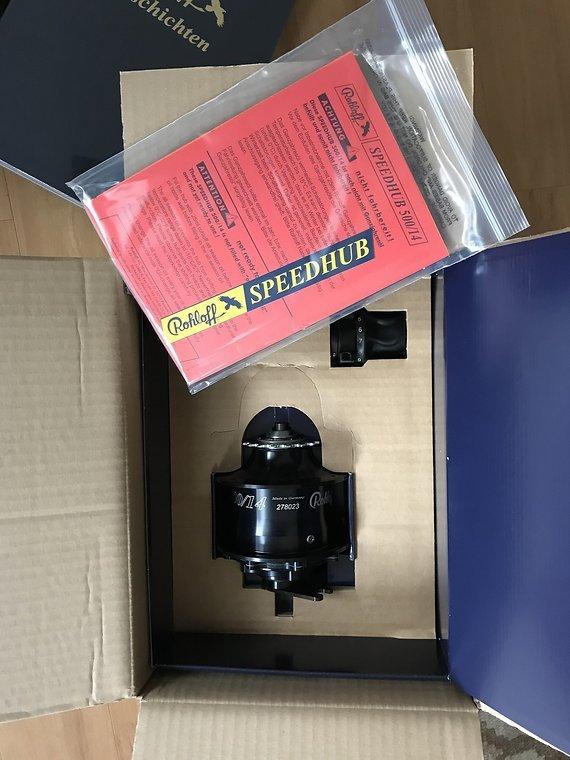 Rohloff NEUE Speedhub 500/14 CC DB OEM2 schwarz mit RG in OVP / UVP 1150,- Euro