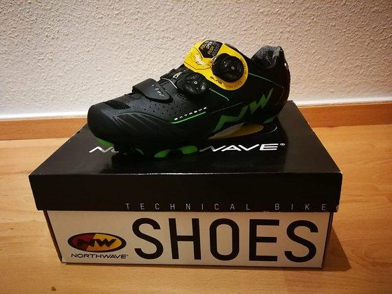 Northwave Extreme XCM Schuhe schwarz / grün Gr. 39