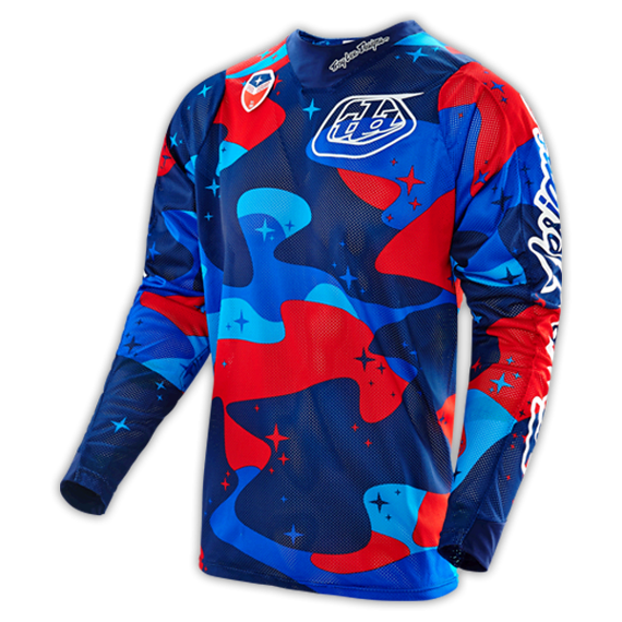 Troy Lee Designs SE Air Jersey Cosmic Camo Blue Gr. S *NEU*