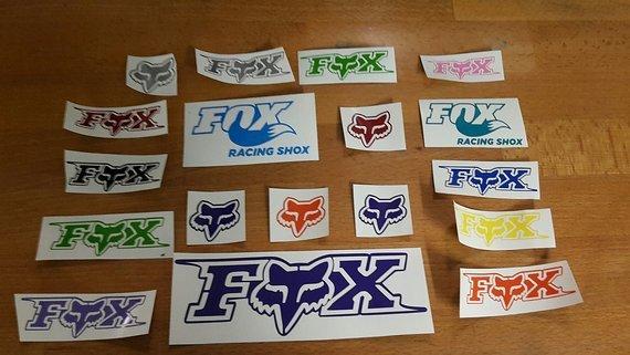 Fox Sticker Set