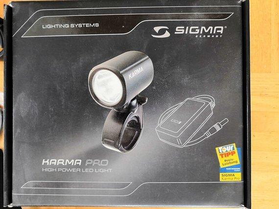 Sigma Sport Karma Pro LED Lampe SET mit viel Zubehör
