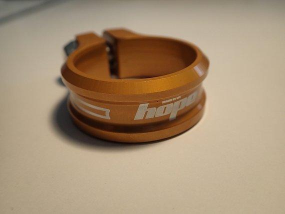 Hope Sattelklemme orange NEU 38,5 Innendurchmesser