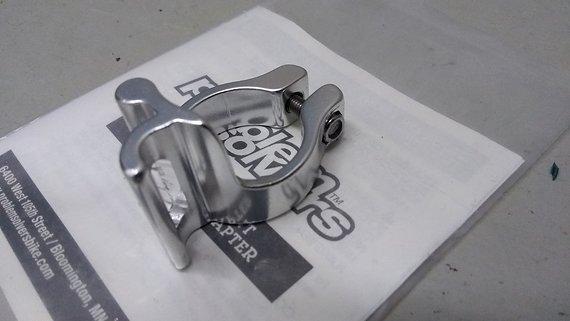 Problem Solvers Umwerferschelle für Anlötumwerfer - silber Durchmesser: 28,6mm