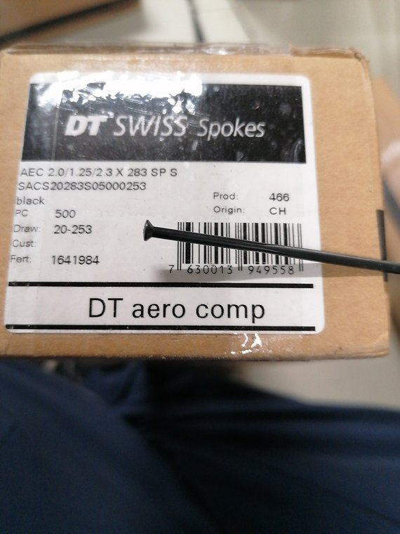 DT Swiss Aero Comp 283mm straight pull
