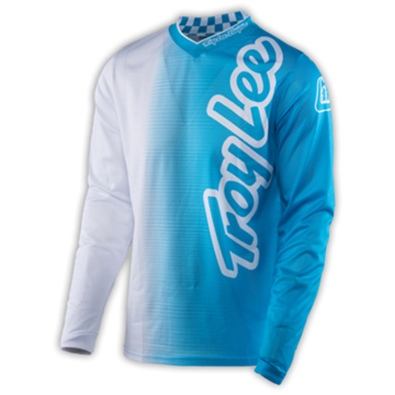 Troy Lee Designs Gr.M GP AIR JERSEY 50/50 WHITE/BLUE