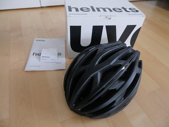 Uvex Race 5 Helm Rennradhelm schwarz matt-glänzend