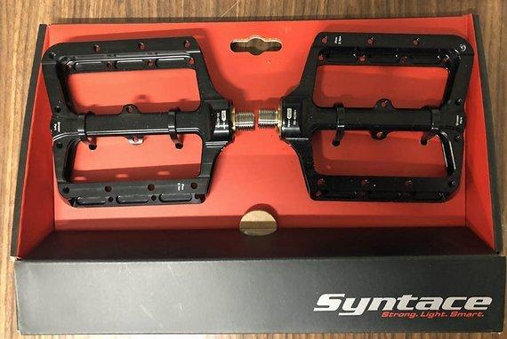 Syntace NumberNine 2 Titan Plattformpedale schwarz Gr. L OVP