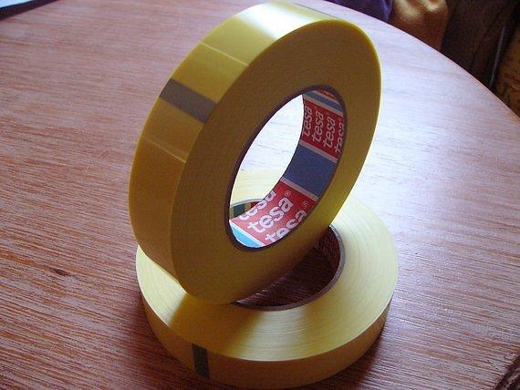Tesa 4289 Strapping Klebeband 25mm(66 Meter) Tubless Yellow-Tape, Felgenband