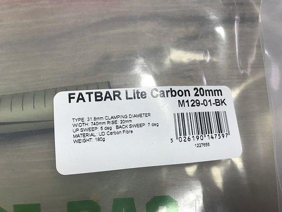 Renthal Fatbar Lite Carbon 740mm / 20mm Rise / 31,8 Lenker *NEU*