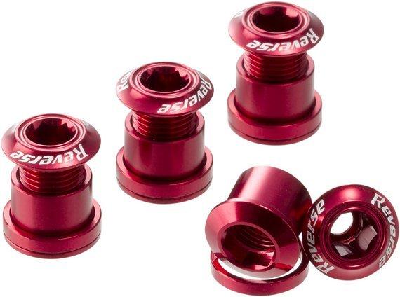Reverse Components Kettenblattschrauben rot *VERSANDKOSTENFREI*