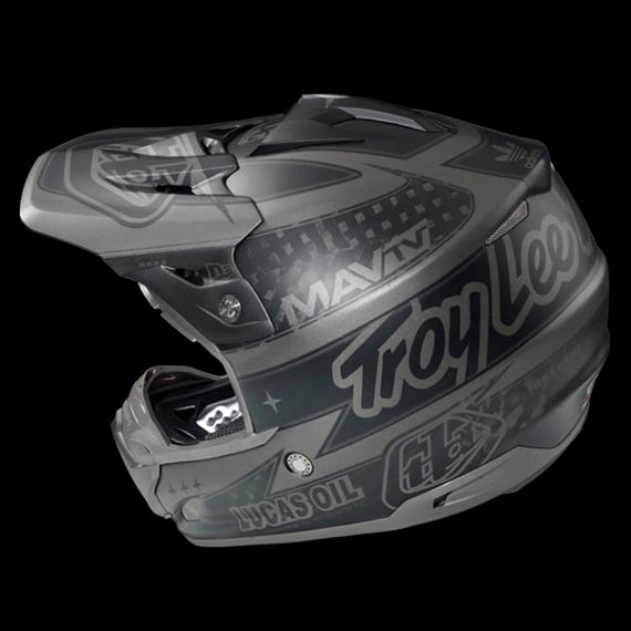 Troy Lee Designs SE3 Fullface Helm Team Matte Black CF Gr. L *NEU*