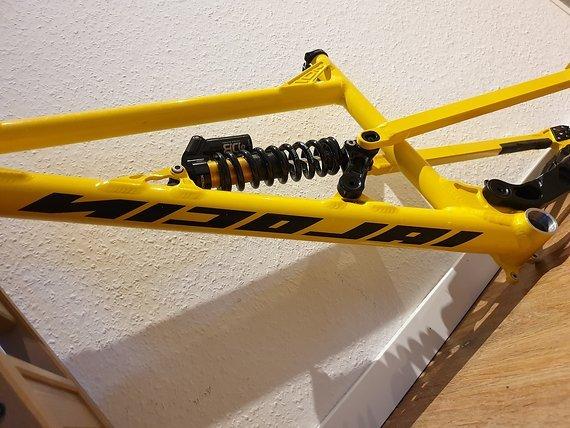 Nicolai Bikes Nicolai Bike G19 Downhillrahmen - 650b Rahmen - Gelb - Größe L - 193 mm Federweg - 12 x 148 mm - 650b - inkl. Dämpfer / Steuersatz /Sattelklemme / Steckachse