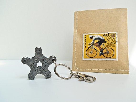 Reformat-Handmade Fahrrad Schlüsselanhänger Star