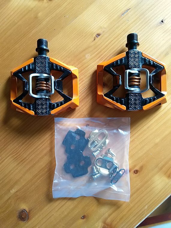 Crank Brothers Crankbrothers Double Shot 2 Pedale orange gebraucht!