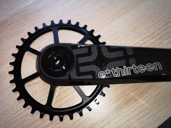 E*thirteen XCX Race Kurbel, 175mm, 409 g, Pressfit Innenlager, 32' er & 34'er KB