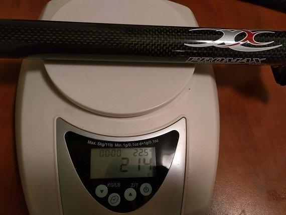 Promax Carbon Sattelstütze - 31,6mm mit Versatz, Länge 290mm