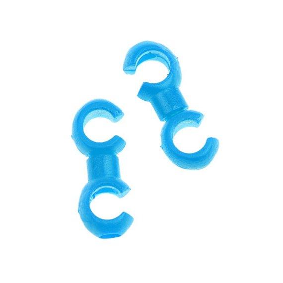2. S-Haken 2er Set für Schaltung Bremszug blau